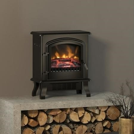 BeModern Colman Freestanding Electric Stove Fire in Black