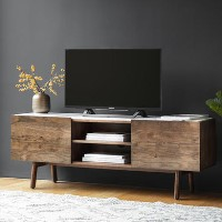 Gallery Barcelona White Marble Top Media TV Unit - TV's up to 50