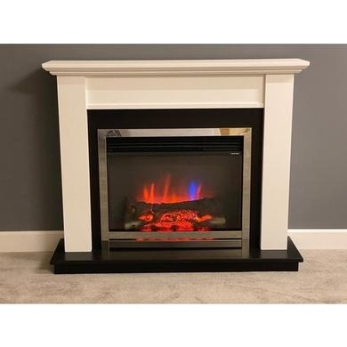 Suncrest Antigua Fireplace Suite with White Surround