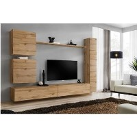 Wooden Floating TV Entertainment Unit - TV's up to 50