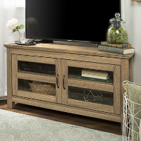 Wood Effect Corner TV Unit with Storage - Foster - TV's up to 45