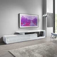 Extra Large White Gloss TV Unit - TV's up to 47
