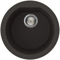 Reginox FOX-ROUND-B 1.0 Round Bowl Regi-Granite Composite Sink Metaltek Black