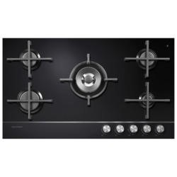 Fisher & Paykel CG905DNGGB1 85359 Designer 90cm Wide Gas-on-Glass 5 Burner Hob