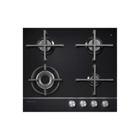 Fisher & Paykel CG604DNGGB1 85363 Designer 60cm Wide Gas-on-Glass' 4 Burner Gas Hob