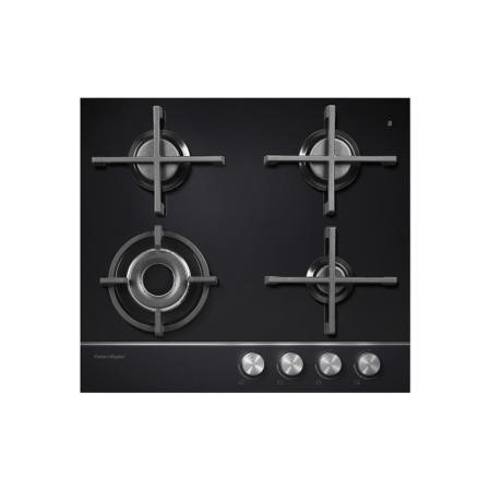Fisher & Paykel CG604DLPGB1 85364 Designer 60cm Wide Gas-on-Glass 4 Burner LPG Hob
