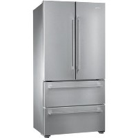 Smeg FQ55FX1 4-Door American Fridge Freezer Stainless Steel Best Price, Cheapest Prices