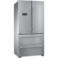 Smeg FQ55FXE1 4-Door American Fridge Freezer - Stainless Steel Best Price, Cheapest Prices