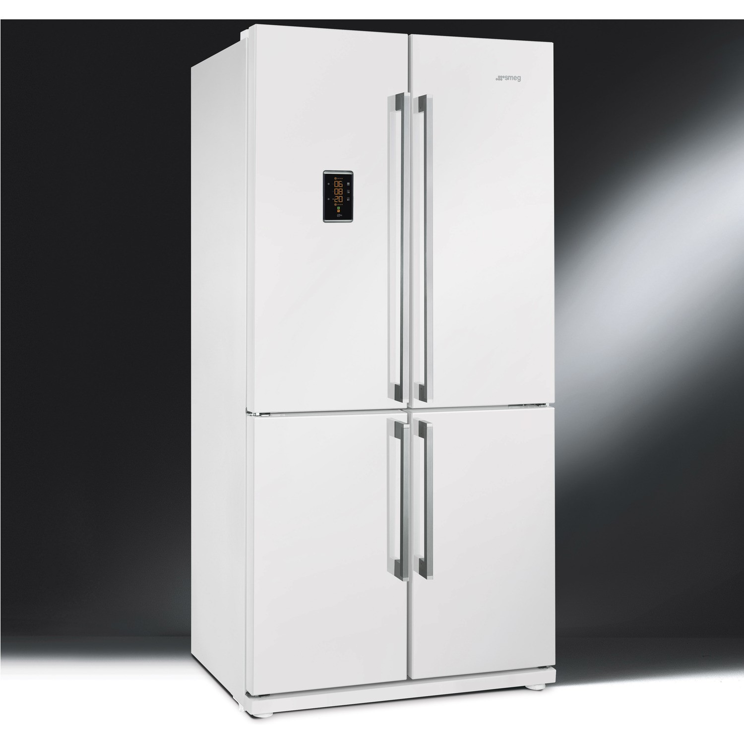 Smeg FQ60BPE Four Door Frost Free American Fridge Freezer   White