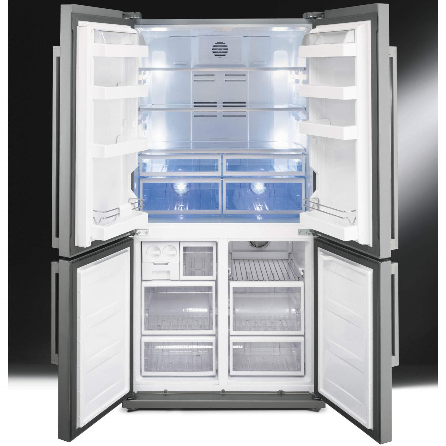 Large American Fridge Freezer Part - 40: Smeg FQ60XP Stainless Steel 4-Door American Fridge Freezer With Convertible  Compartment