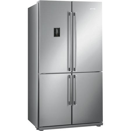 Smeg FQ60XPE Four Door Frost Free American Fridge Freezer - Stainless Steel
