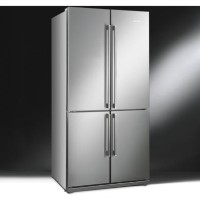 Smeg FQ60XP Stainless Steel 4-Door American Fridge Freezer With Convertible Compartment Best Price, Cheapest Prices