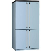 Smeg FQ960PB 90cm Victoria Pastel Blue Freestanding Four Door Fridge Freezer Best Price, Cheapest Prices
