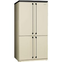 Smeg FQ960P 90cm Victoria Cream Freestanding Four Door Fridge Freezer Best Price, Cheapest Prices
