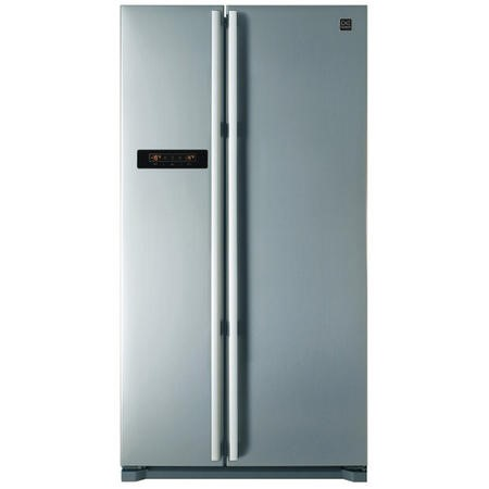 Daewoo FRAX22B3S Side-by-side American Fridge Freezer With LED Display Silver