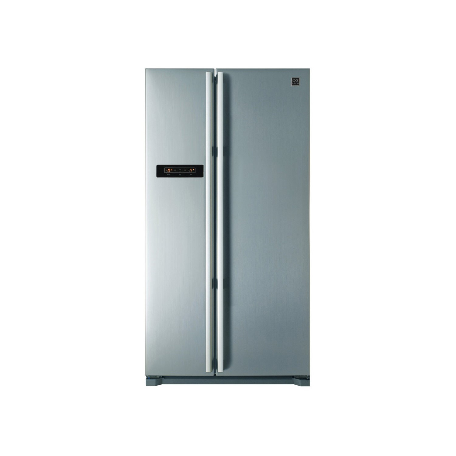 American Side By Side Fridge Freezer Part - 29: Daewoo FRAX22B3S Side-by-side American Fridge Freezer With LED Display  Silver