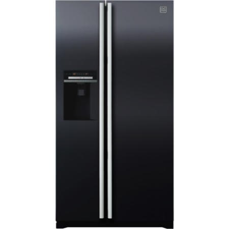 Daewoo FRAX22D3B Side-by-side American Fridge Freezer With Ice And Water Dispenser Black