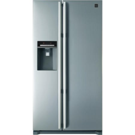 Daewoo FRAX22D3S Side-by-side American Fridge Freezer With Ice And Water Dispenser Silver