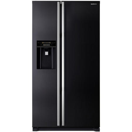 Daewoo FRAX22NP3B American Side-by-side Fridge Freezer With Non-Plumbed Ice And Water Dispenser Black