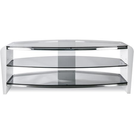 "Alphason FRN1100/3WHT/SK Francium TV Stand for up to 50"" TVs - Smoked Glass"