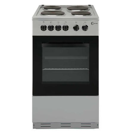 Flavel FSBE50S 50cm Single Oven Electric Cooker With Sealed Plate Hob - Silver