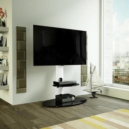 "AVF FSL800LUSW Lugano TV Stand Combi for TVs up to 65"" - Sating White"