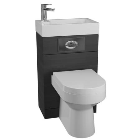 Black Cloakroom Suite with Curve Toilet