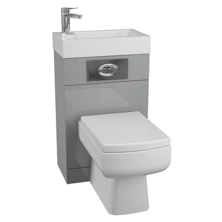 Grey Cloakroom Suite with Square Toilet