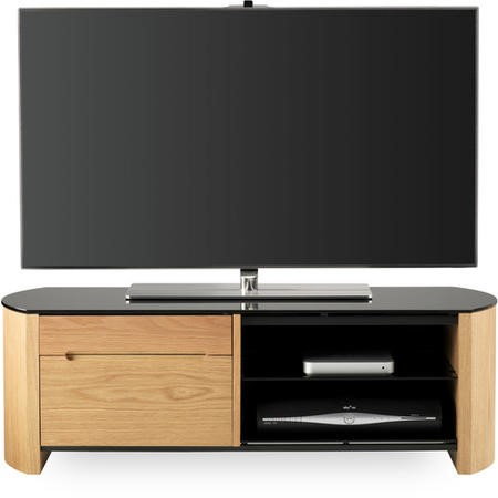 Alphason FW1100CB-LO Light Oak Finewoods TV Stand - Up to 50 inch