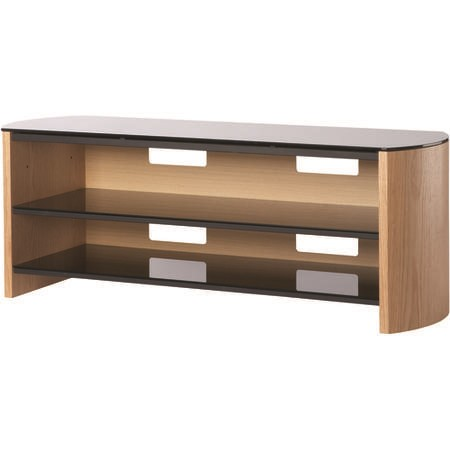 "Alphason FW1350-LO/B Finewoods TV Stand for up to 60"" TVs - Light Oak"