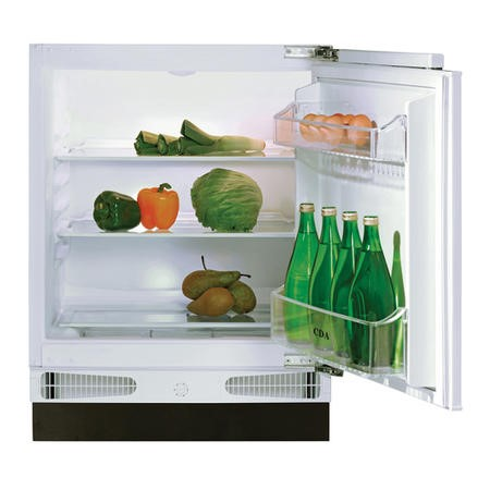 CDA FW223 60cm Wide Integrated Under Counter Fridge - White