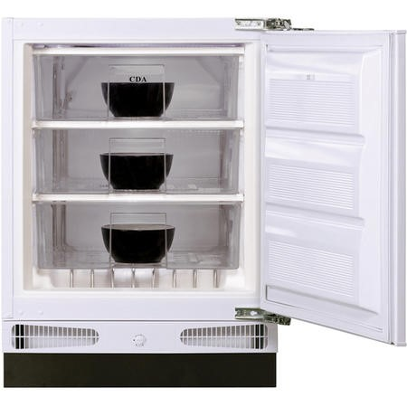 CDA FW381 60cm Wide Integrated Upright Under Counter Freezer - White