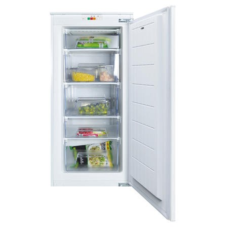 CDA FW582 54cm Wide Integrated Upright In-Column Freezer - White