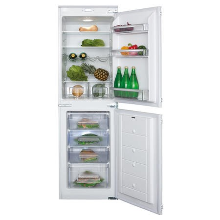 CDA FW852 54cm Wide 50-50 Integrated Upright Fridge Freezer - White