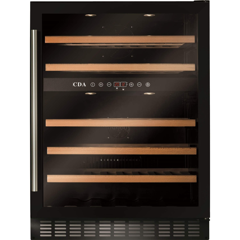 cda fwc603bl 60 cm under counter wine cooler black - Under Counter Wine Cooler