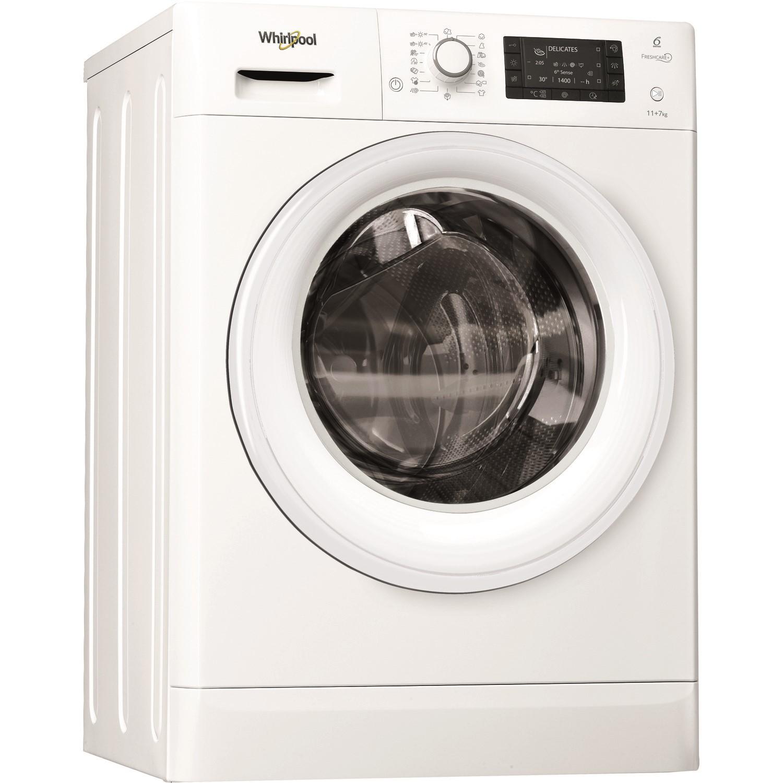 Whirlpool FWDD1071681W FreshCarePlus 10kg Wash 7kg Dry 1600rpm Freestanding  Washer Dryer - White