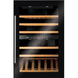CDA FWV901BL 90cm High Built-in Dual Zone Wine Cooler Black