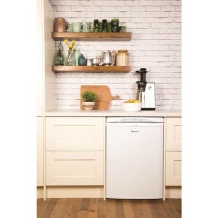 Hotpoint FZA36P 60cm Wide Frost Free Freestanding Upright Under Counter Freezer - Polar White