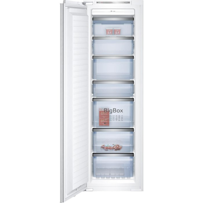 Neff G4655x7gb Series 4 56cm Wide Tall Frost Free Integrated Upright