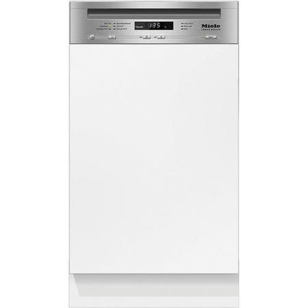 Miele G4720SCiclst 45cm 9 Place Slimline Semi-integrated Dishwasher CleanSteel Panel