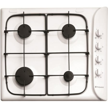 Hotpoint G640SW 60cm Wide 4 Burner Gas Hob With Flame Failure