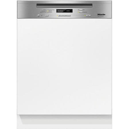 Miele G6730SCiclst 14 60cm Place Semi-integrated Dishwasher With Cutlery Tray CleanSteel Panel