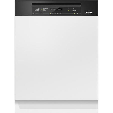 GRADE A2 - Miele G6730SCiobbl 60cm 14 Place Semi-integrated Dishwasher With Cutlery Tray Obsidian Black Panel