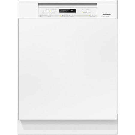Miele G6730SCiwh 14 Place Semi-integrated Dishwasher With Cutlery Tray White Panel