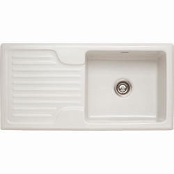 Franke GAK 611 Galassia Ceramic Single Bowl Sink White