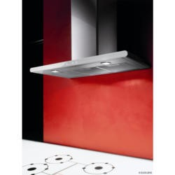 Elica GALAXY-80-SS-WH GALAXYSSWH80 Galaxy 80cm Chimney Cooker Hood Stainless Steel and White Glass