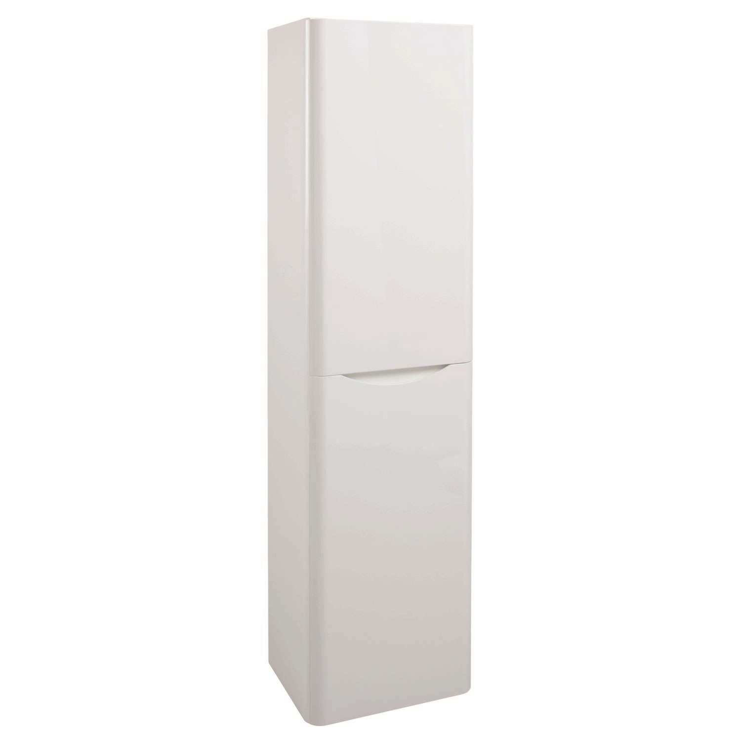 Fabulous White Wall Hung Tall Bathroom Storage Cabinet W400 X H1500Mm Home Interior And Landscaping Ologienasavecom