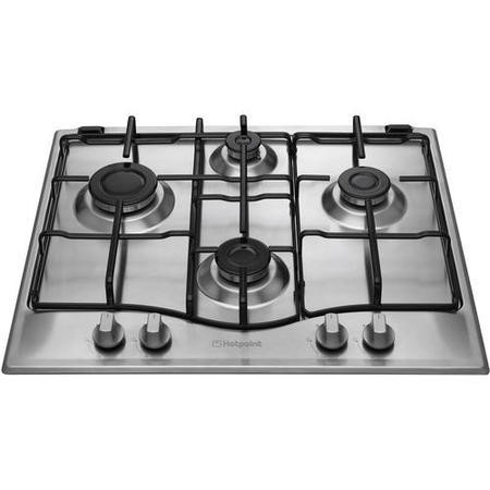 Hotpoint GC640IX Four Burner 60cm Gas Hob Stainless Steel