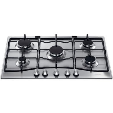 GC750X Hotpoint GC750X 75cm Wide Five Burner Gas Hob - Stainless Steel