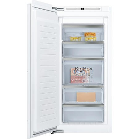Neff GI7413E30G 56cm Wide Tall Frost Free Integrated Upright In-Column Freezer - White Finish